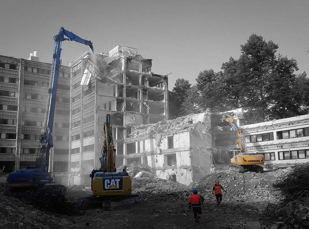 Rakennusten- ja kiinteistöjen purkutyöt